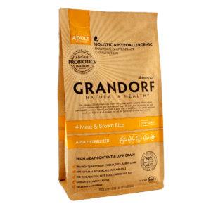 Grandorf 4 Meat & Brown Rice STERILIZED