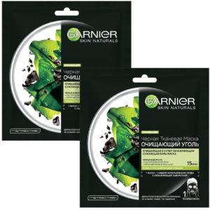 Garnier Очищающий Уголь + Черные водоросли